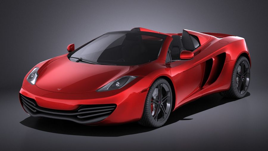 Mclaren MP4 12C Spider 2014 VRAY royalty-free 3d model - Preview no. 1