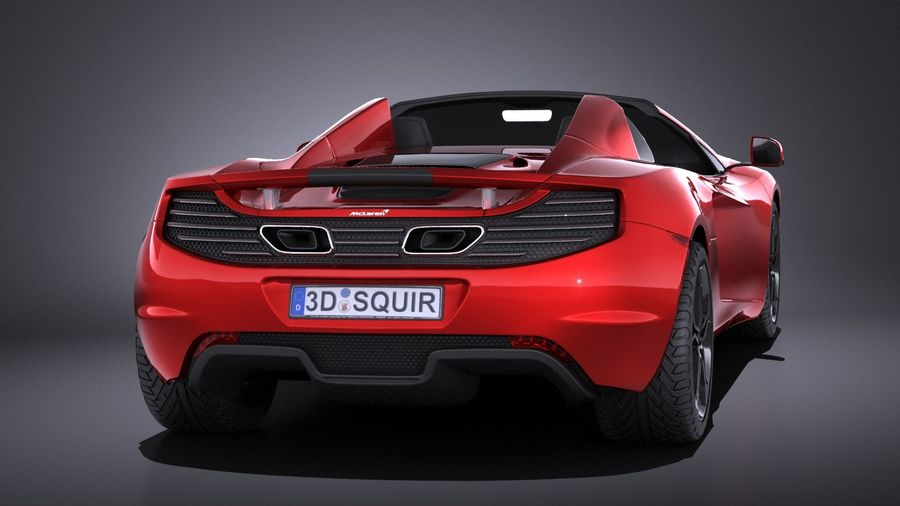 Mclaren MP4 12C Spider 2014 VRAY royalty-free 3d model - Preview no. 5