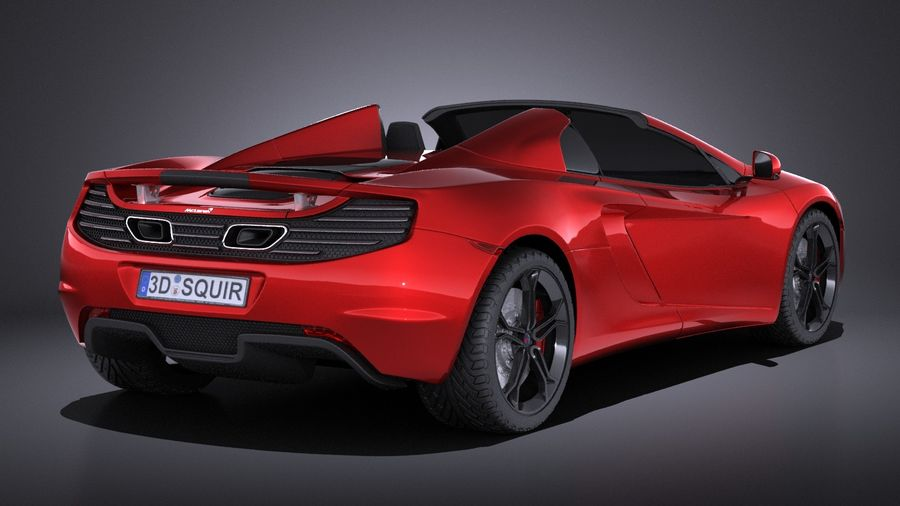Mclaren MP4 12C Spider 2014 VRAY royalty-free 3d model - Preview no. 6