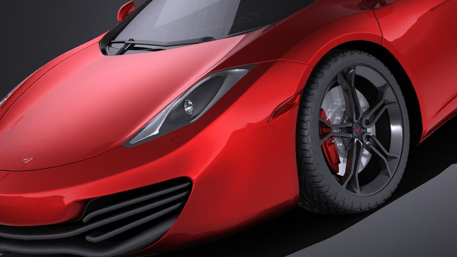 Mclaren MP4 12C Spider 2014 VRAY royalty-free 3d model - Preview no. 3