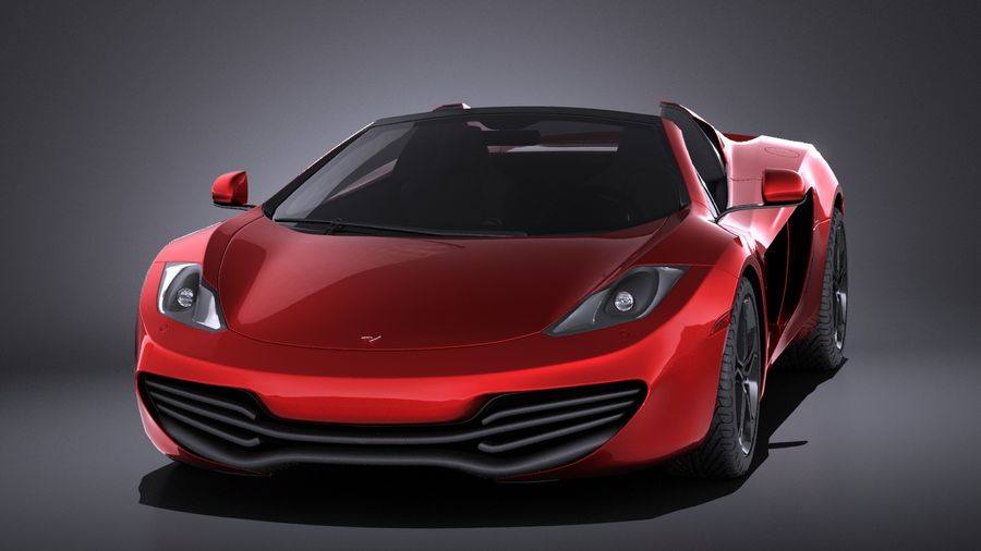 Mclaren MP4 12C Spider 2014 VRAY royalty-free 3d model - Preview no. 2