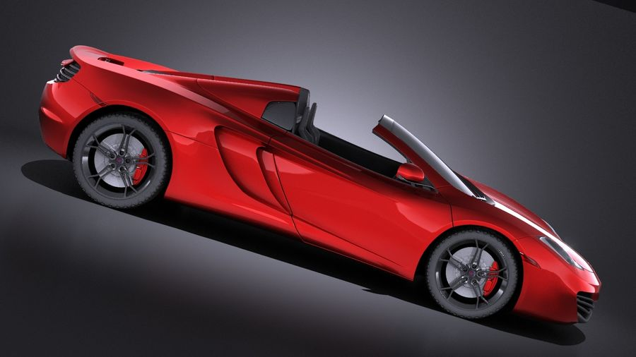 Mclaren MP4 12C Spider 2014 VRAY royalty-free 3d model - Preview no. 7