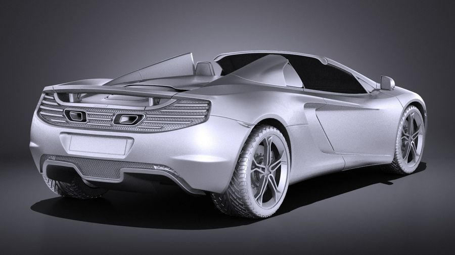 Mclaren MP4 12C Spider 2014 VRAY royalty-free 3d model - Preview no. 12