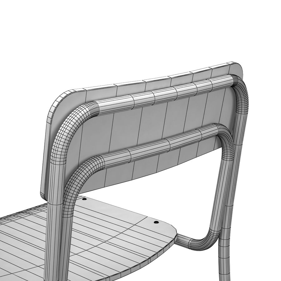 School Chair royalty-free 3d model - Preview no. 10