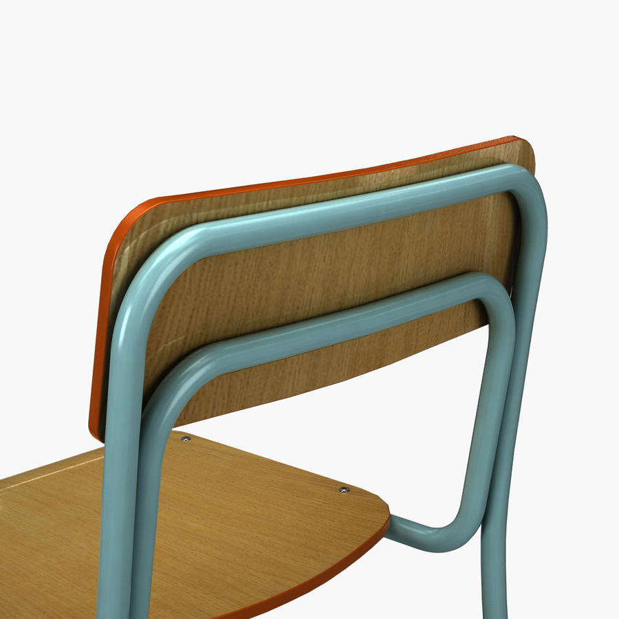 School Chair royalty-free 3d model - Preview no. 9