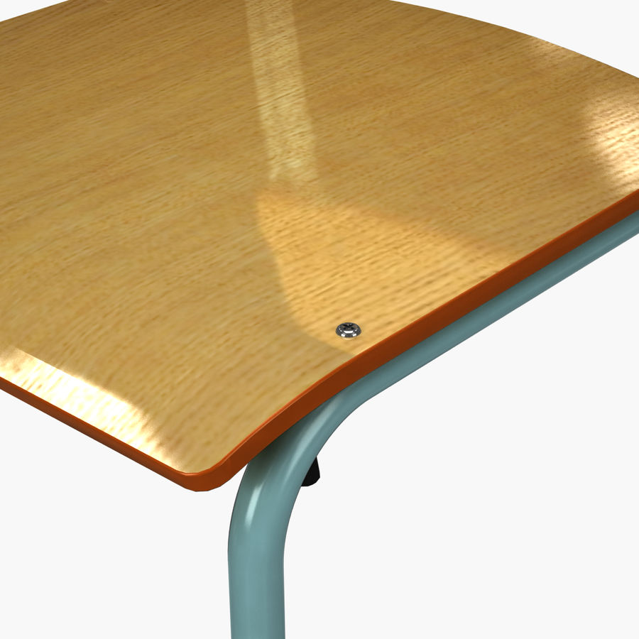 School Chair royalty-free 3d model - Preview no. 5