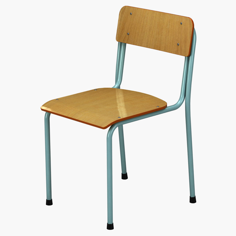 School Chair royalty-free 3d model - Preview no. 1