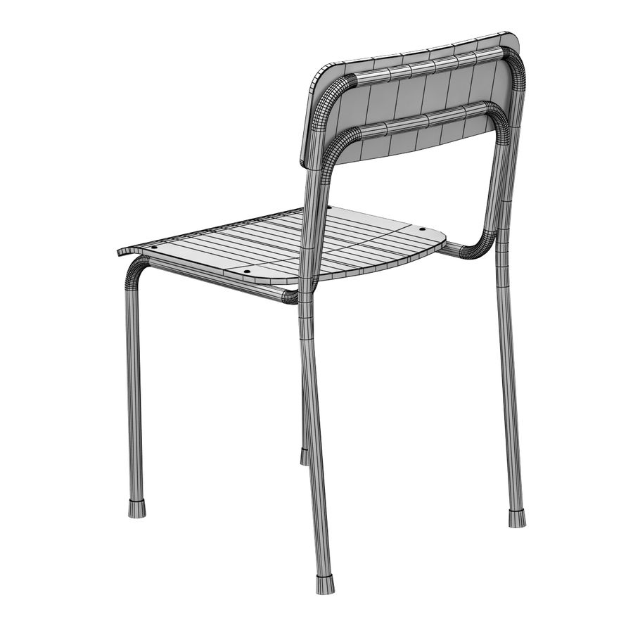 School Chair royalty-free 3d model - Preview no. 4