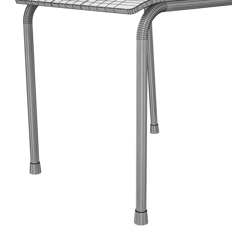 School Chair royalty-free 3d model - Preview no. 12