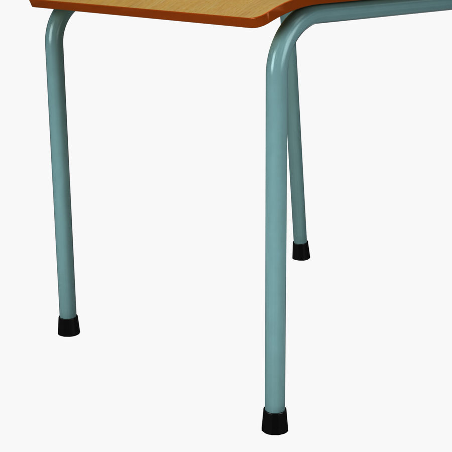 School Chair royalty-free 3d model - Preview no. 11