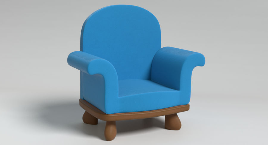 Cartoon Furniture Set 3 royalty-free 3d model - Preview no. 11