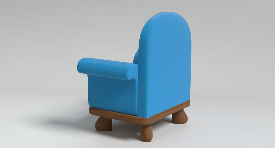 Cartoon Furniture Set 3 royalty-free 3d model - Preview no. 15