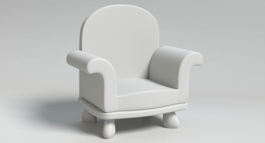Cartoon Furniture Set 3 royalty-free 3d model - Preview no. 19