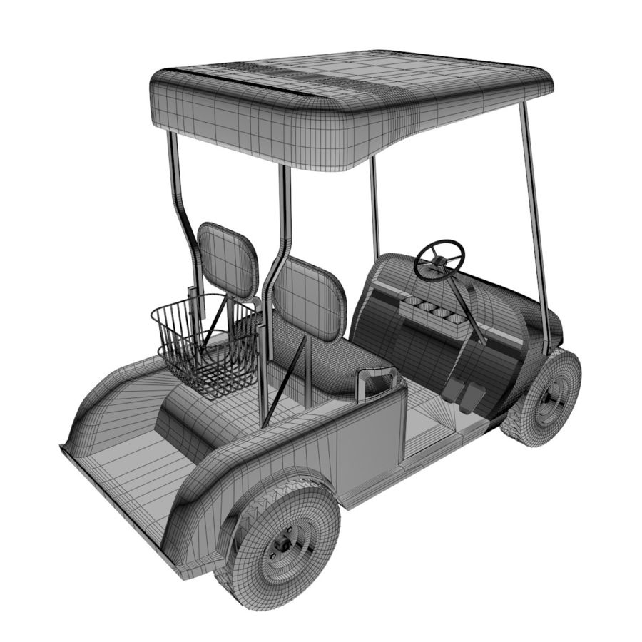 A Golf Car royalty-free 3d model - Preview no. 9