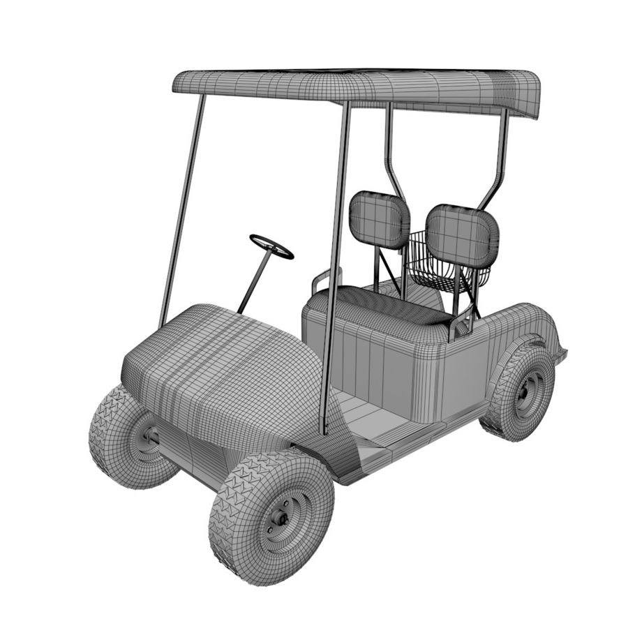 A Golf Car royalty-free 3d model - Preview no. 5