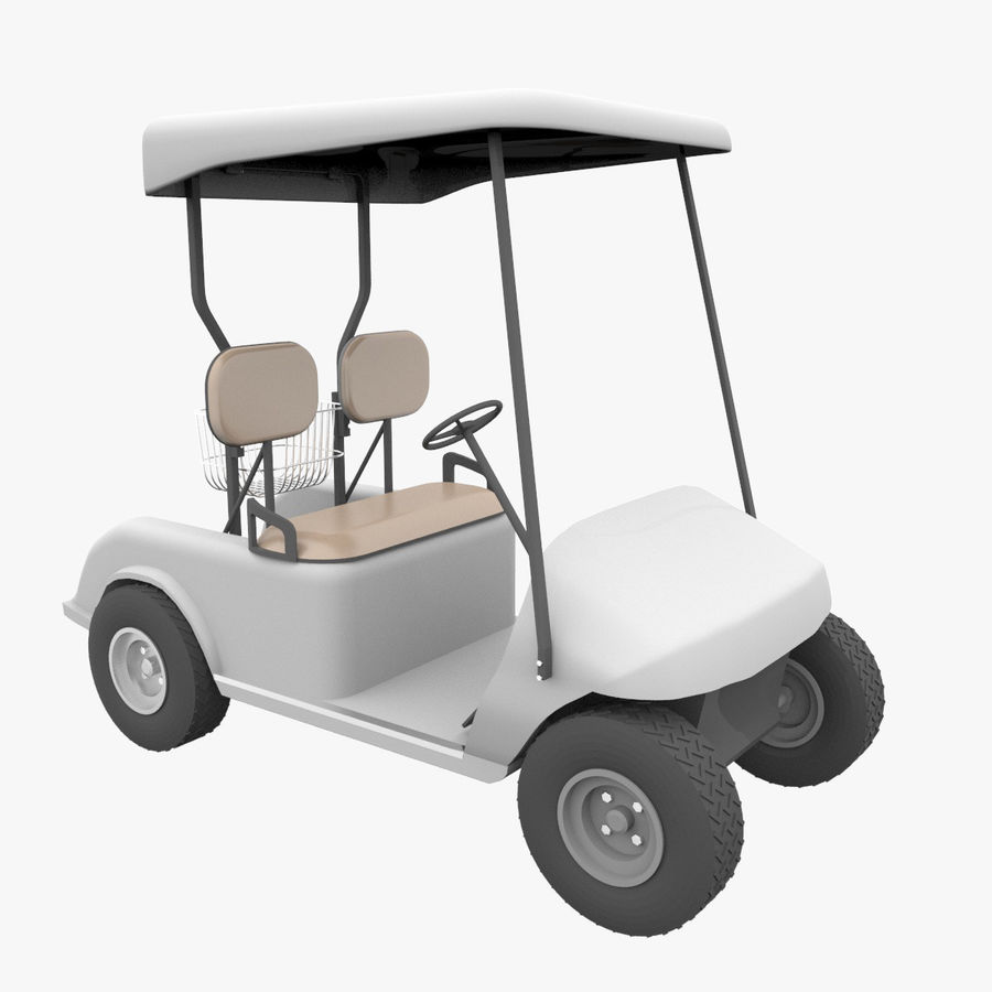 A Golf Car royalty-free 3d model - Preview no. 1