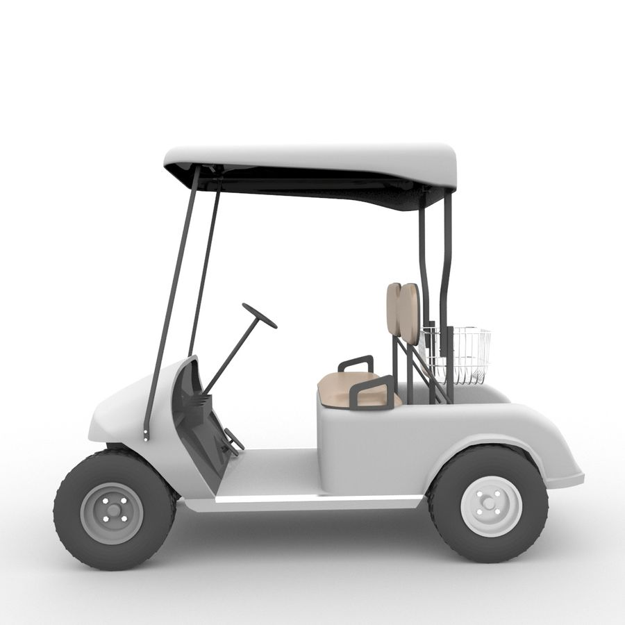 A Golf Car royalty-free 3d model - Preview no. 12