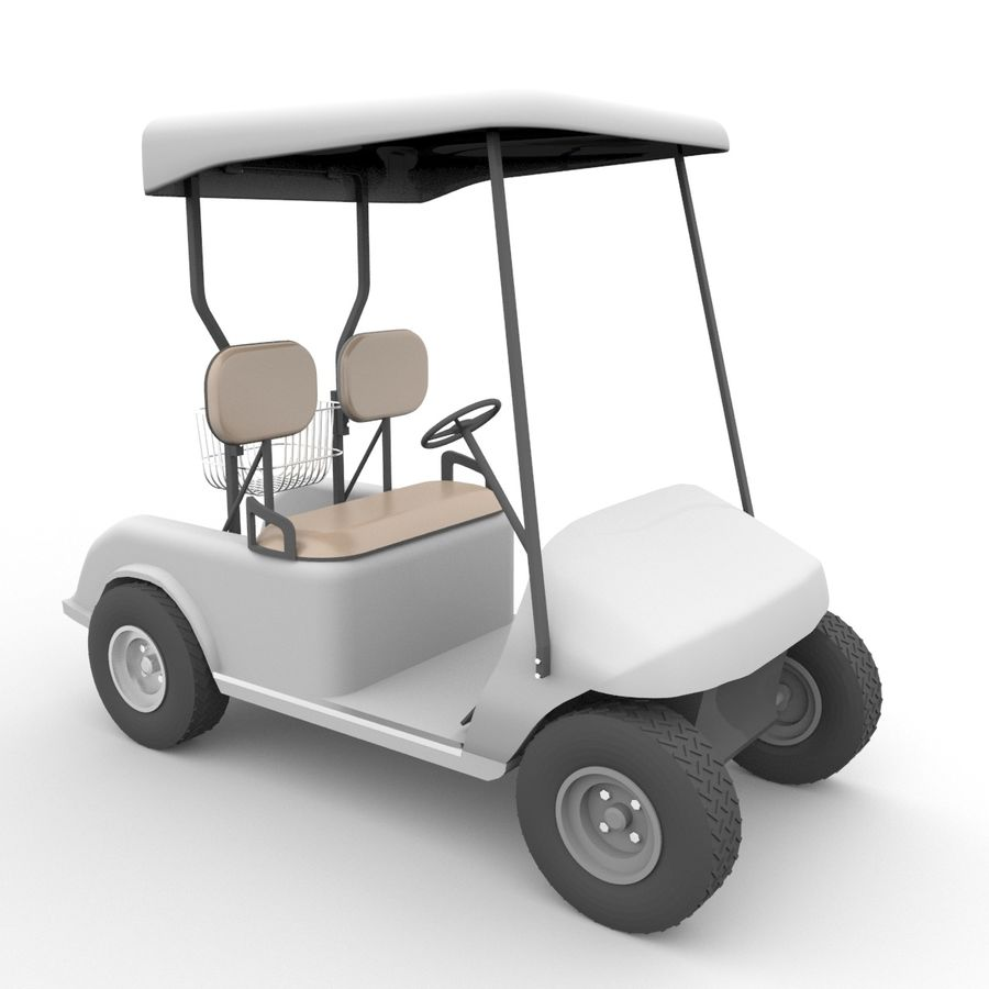 A Golf Car royalty-free 3d model - Preview no. 2