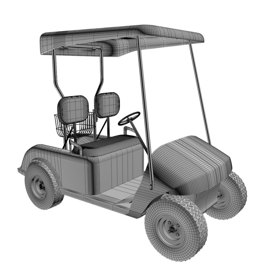 A Golf Car royalty-free 3d model - Preview no. 3