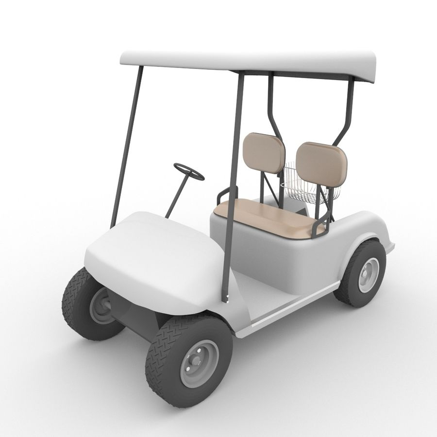 A Golf Car royalty-free 3d model - Preview no. 4