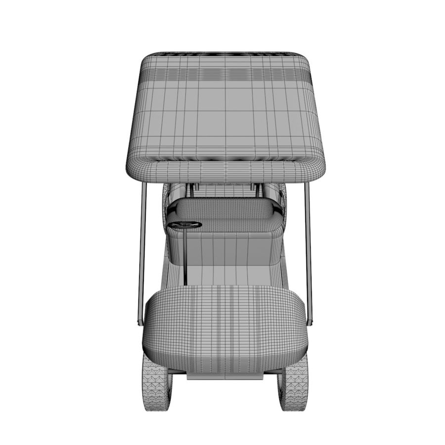 A Golf Car royalty-free 3d model - Preview no. 11