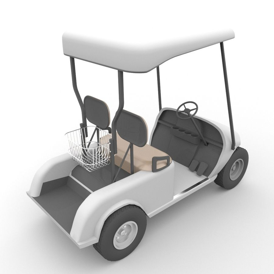 A Golf Car royalty-free 3d model - Preview no. 8