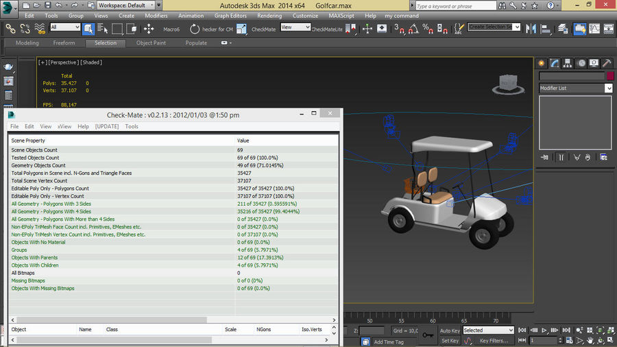 A Golf Car royalty-free 3d model - Preview no. 14