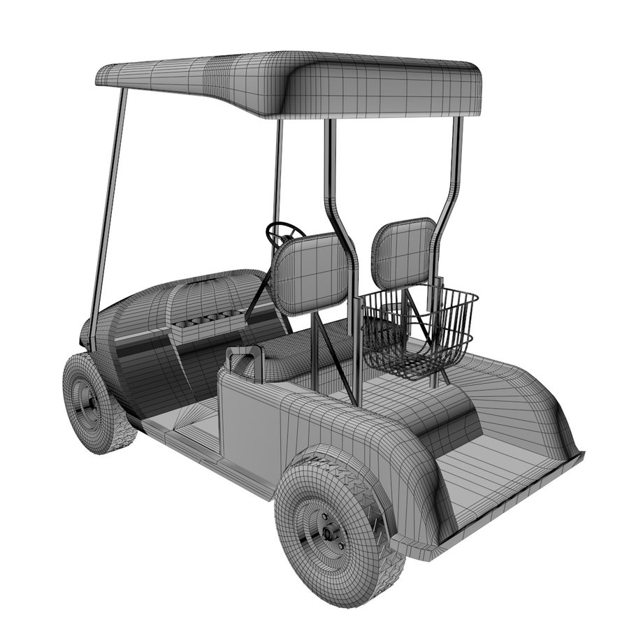 A Golf Car royalty-free 3d model - Preview no. 7