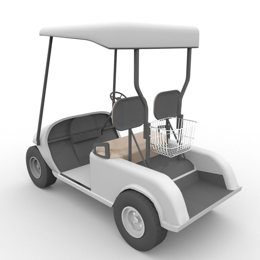 A Golf Car royalty-free 3d model - Preview no. 6