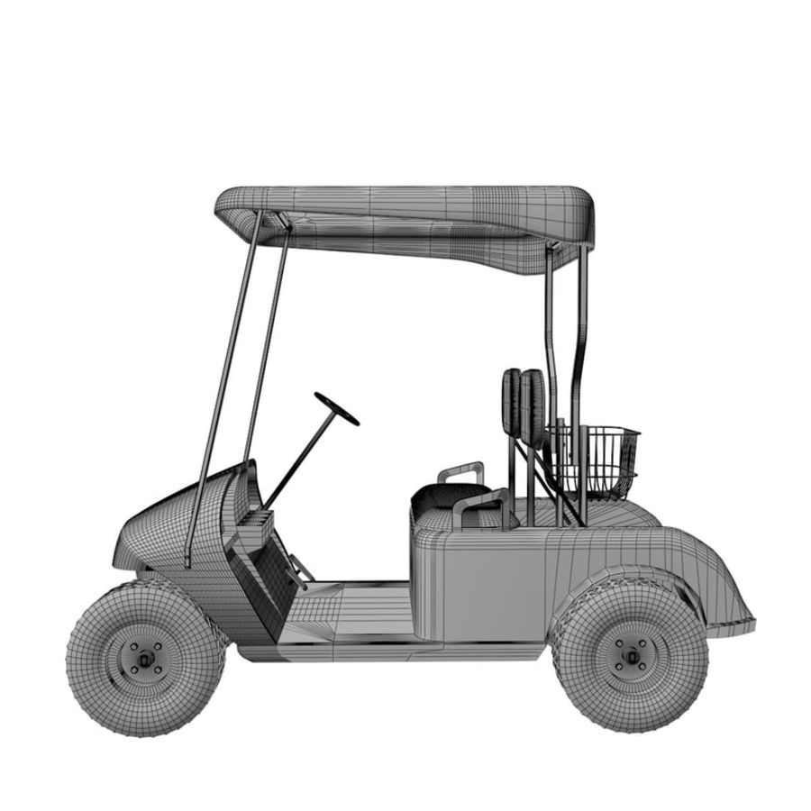 A Golf Car royalty-free 3d model - Preview no. 13