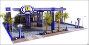 City Gas Station 3d model