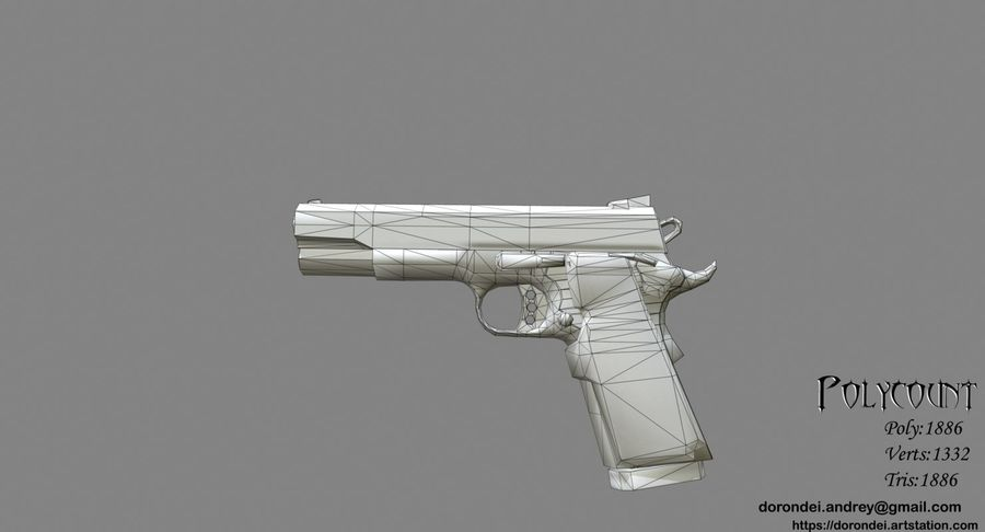 Glock Game Ready royalty-free 3d model - Preview no. 3
