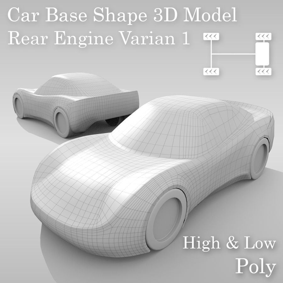 Car Base RR Layout Variant 1 royalty-free 3d model - Preview no. 1