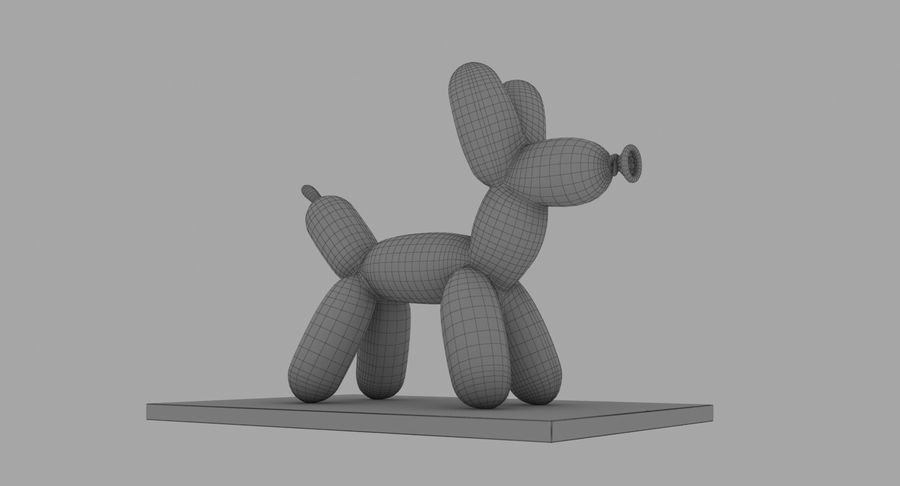 Jeff Koons Balloon Dog royalty-free 3d model - Preview no. 18