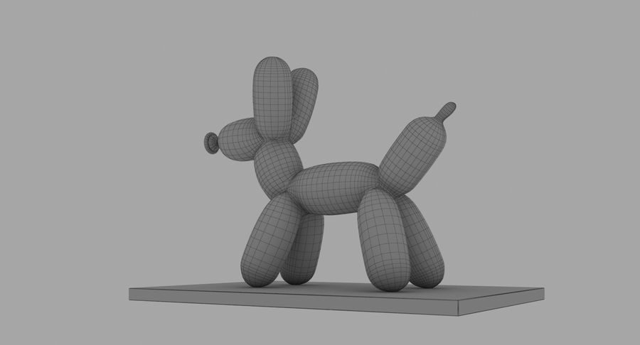 Jeff Koons Balloon Dog royalty-free 3d model - Preview no. 14