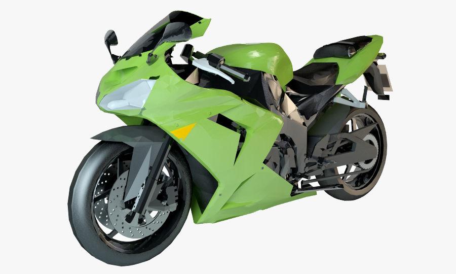 free ninja motorcycle  Kawasaki ninja sports bike 3D Model $10 - .obj .fbx .3ds .max - Free3D