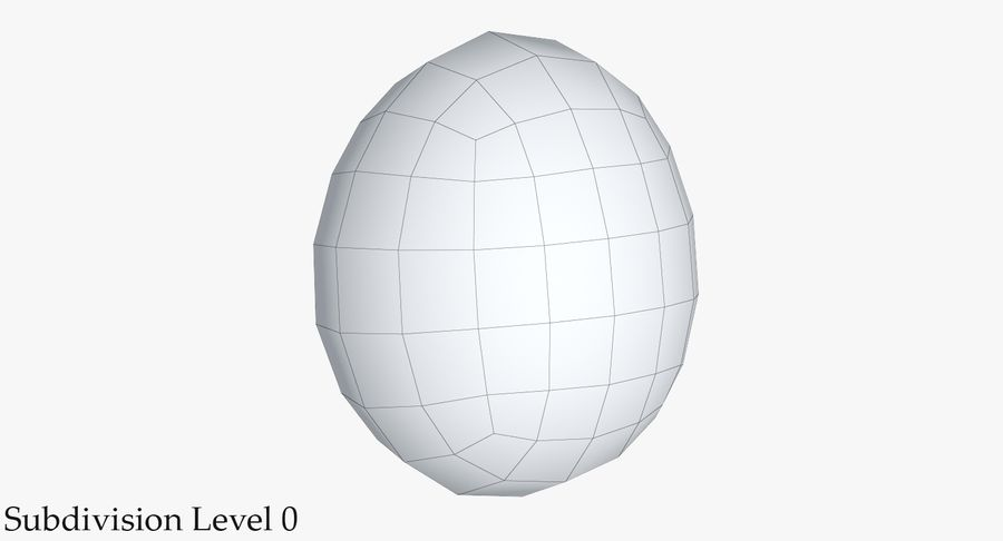 Egg 2 White royalty-free 3d model - Preview no. 16