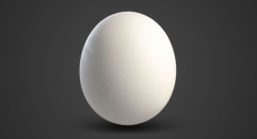 Egg 2 White royalty-free 3d model - Preview no. 3