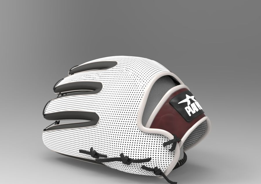 Gant de baseball royalty-free 3d model - Preview no. 4