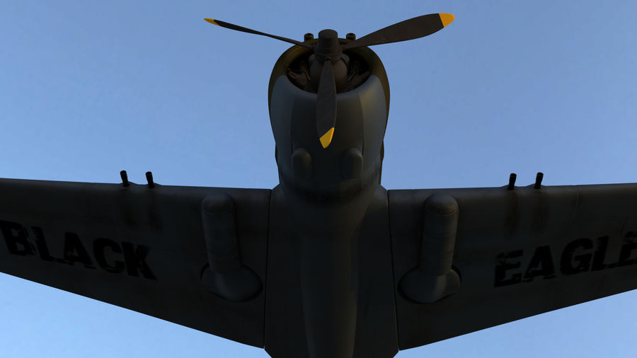 P36 WW2 Aircraft royalty-free 3d model - Preview no. 2