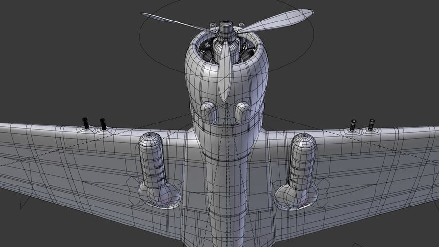 P36 WW2 Aircraft royalty-free 3d model - Preview no. 5