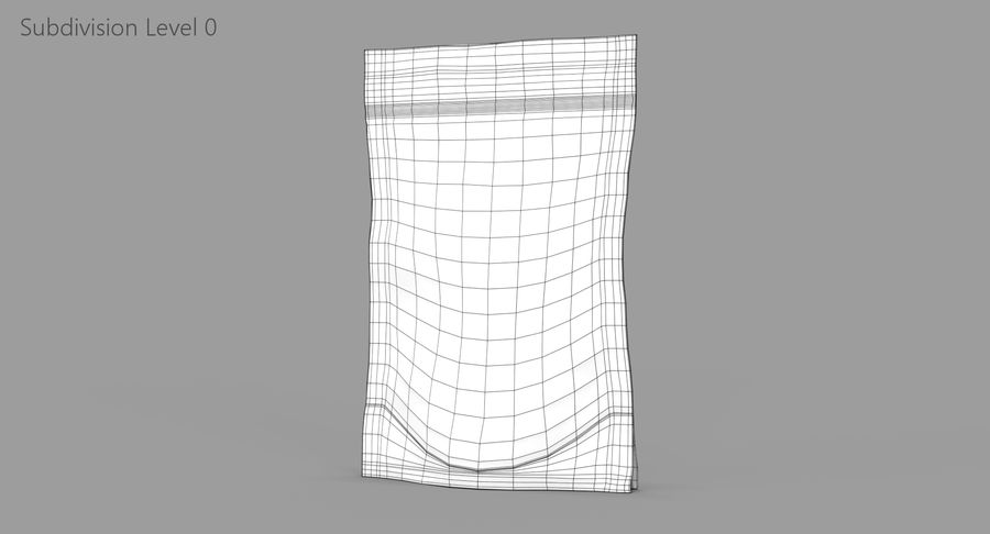 Stand Up Pouch v2 royalty-free 3d model - Preview no. 9