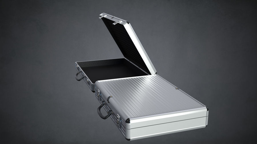 Two Briefcases royalty-free 3d model - Preview no. 8