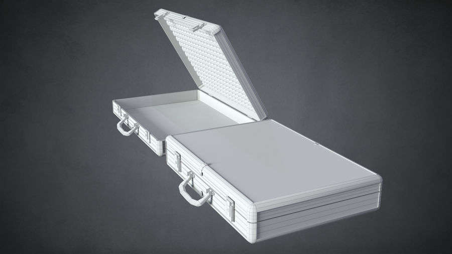 Two Briefcases royalty-free 3d model - Preview no. 11