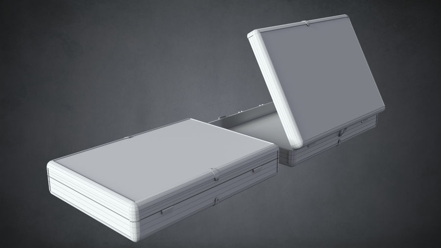 Two Briefcases royalty-free 3d model - Preview no. 12