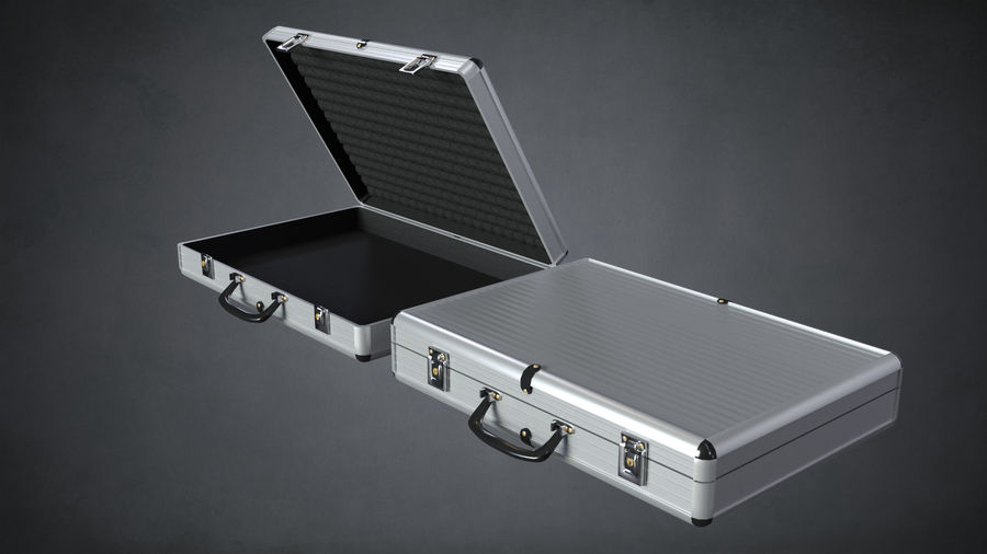 Two Briefcases royalty-free 3d model - Preview no. 3