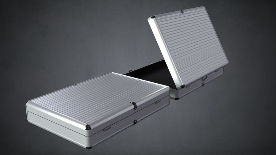 Two Briefcases royalty-free 3d model - Preview no. 4
