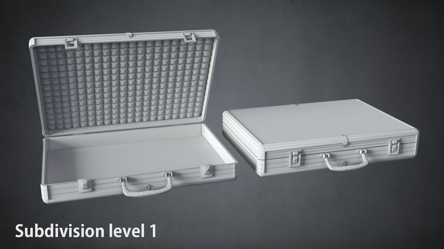 Two Briefcases royalty-free 3d model - Preview no. 10