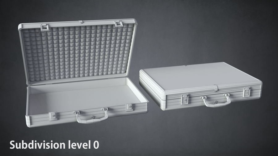 Two cases royalty-free 3d model - Preview no. 9