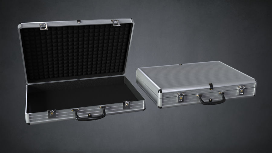 Two Briefcases royalty-free 3d model - Preview no. 2